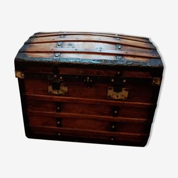 Malle de voyage en bois coffre ancien