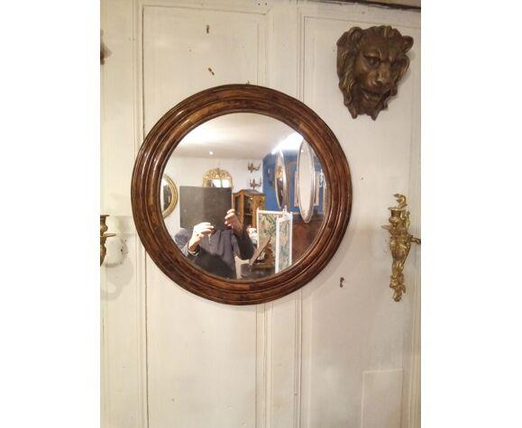Miroir rond en rotin 65cm