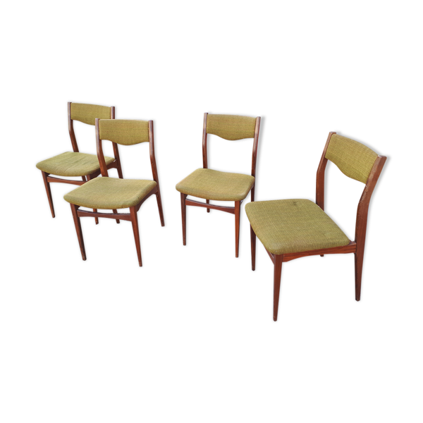 Lot de 4 chaises en teck