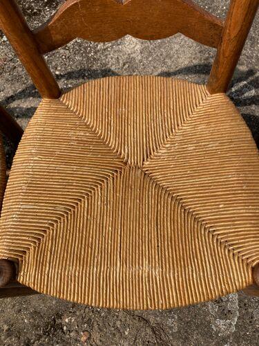 Série de 4 chaises paillées