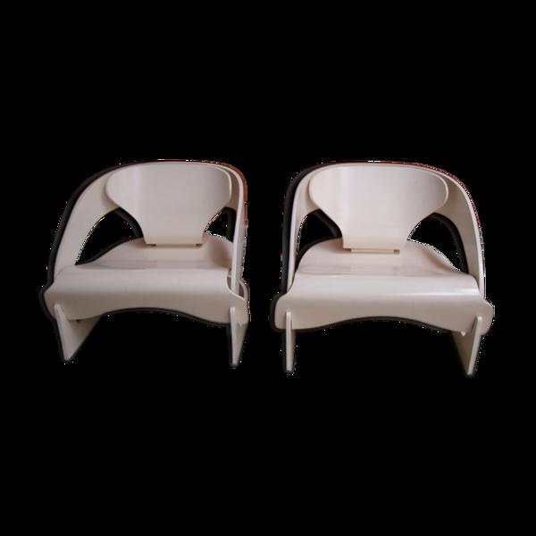 Selency Paire de fauteuils Joe Colombo 1965