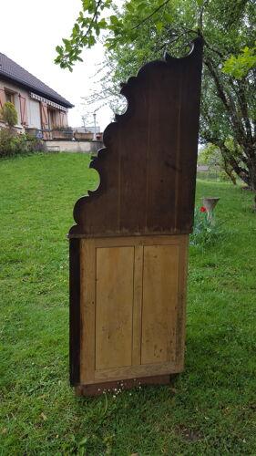 Meuble d'angle encoignure étagère en chêne