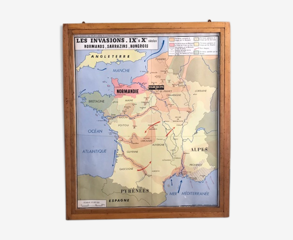 Planches scolaires éditions Rossignol - cartes de France
