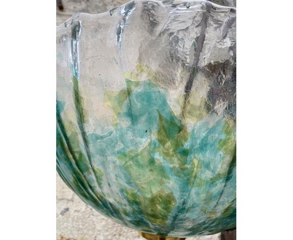 Lampadaire en céramique et verre Murano 1960