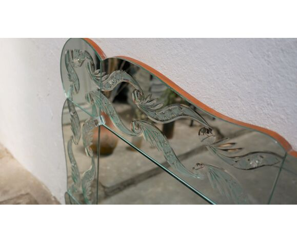 Miroir de brasserie art déco biseauté 100cm x 200cm