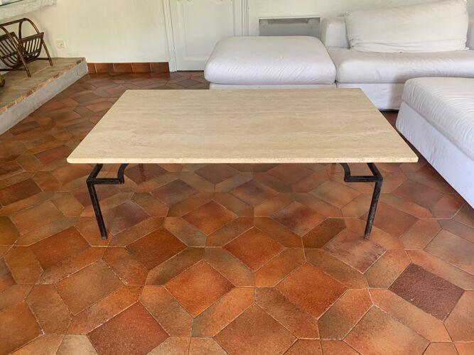 Table basse travertin