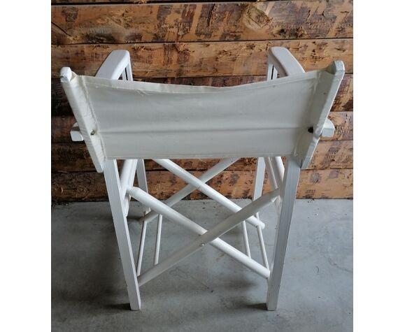 Chaise pliante laqué blanc