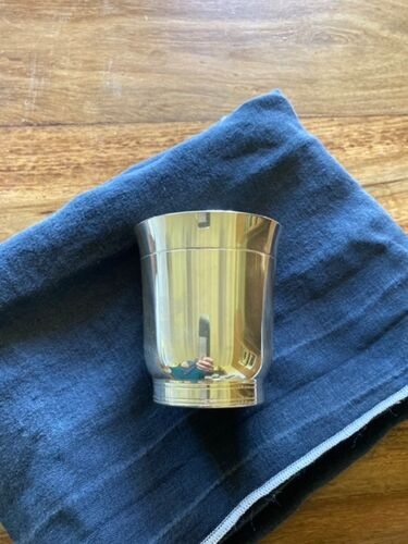 Timbale en métal argenté Art Deco Christofle