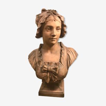 Sculpture buste femme Vasselot 1840