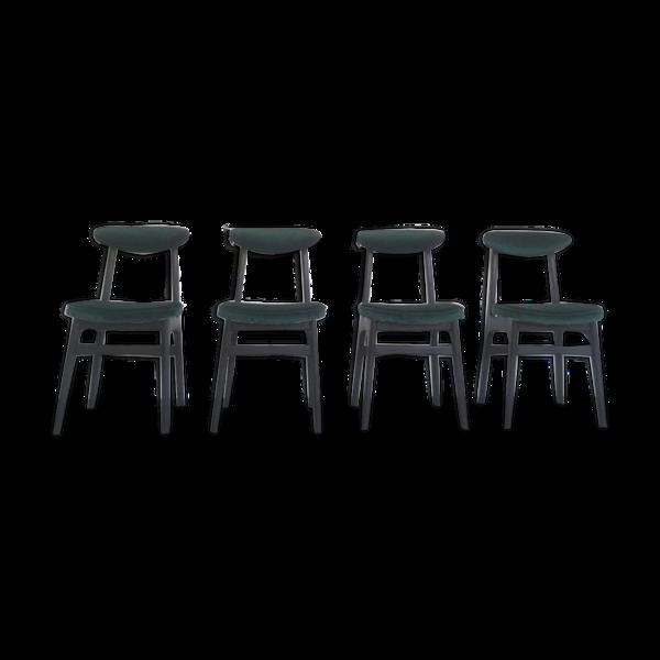 Selency Ensemble de 4 chaises à manger