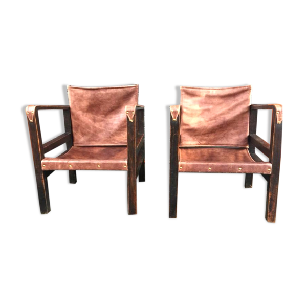 Selency Paire de fauteuils art deco
