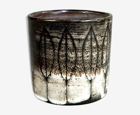 Vase rouleau en céramique émaillée de Jacques Pouchain