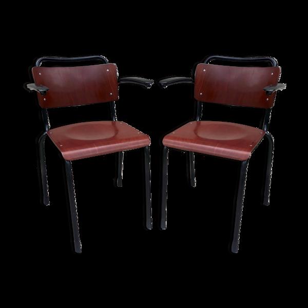 Paire de fauteuils Gispen 206