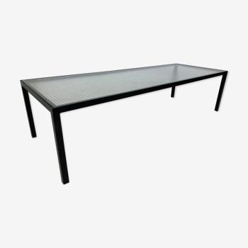 Table basse moderne Artimeta en verre et métal du milieu du siècle par Floris Fiedeldij pour Artimeta, années 1950