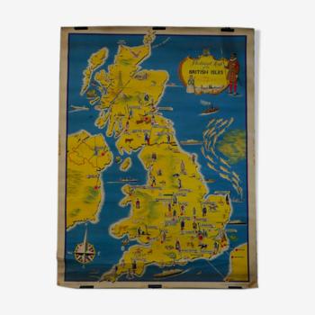 Affiche présentant les îles britanniques