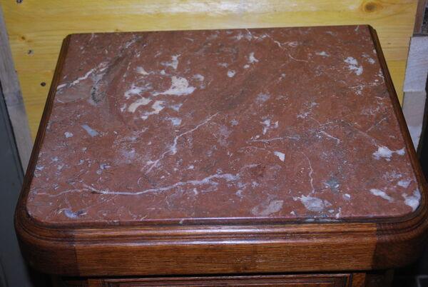 Chevet en chêne dessus marbre