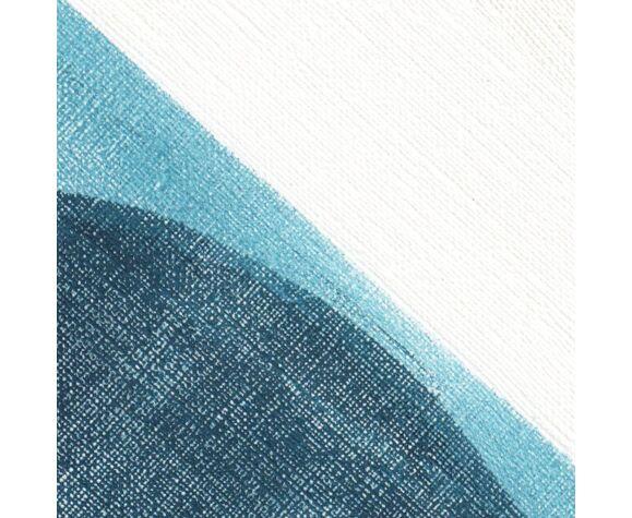Peinture sur papier signée Eawy sans cadre