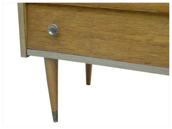Commode vintage bois clair années 1970