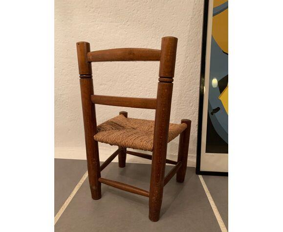 Chaise paillée vintage