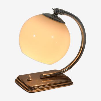 Lampe bauhaus moderniste chrome et verre 1920 - 30
