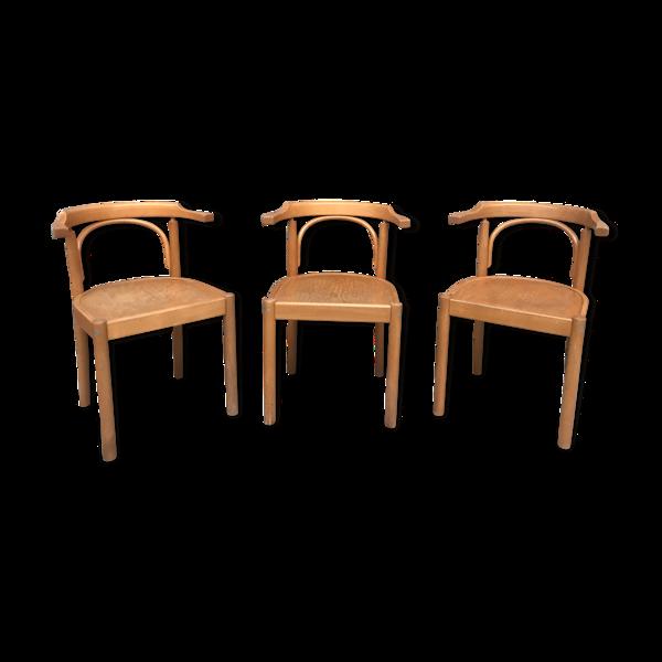 Série de 3 fauteuils 1980