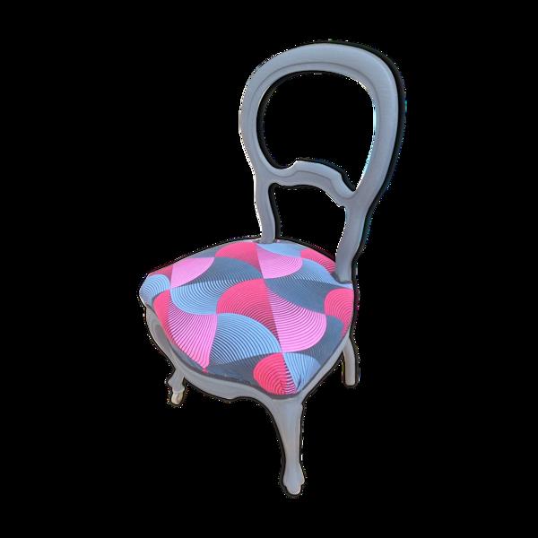 Chaise medaillon époque Louis Philippe
