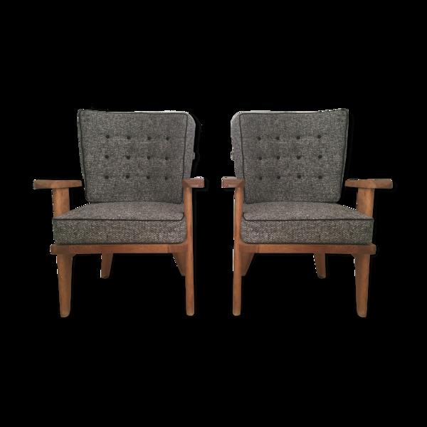 Selency Paire de fauteuils de Guillerme et Chambron