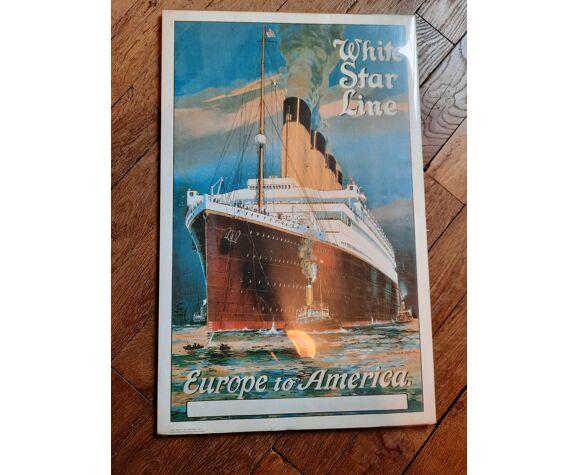 Affiche bateaux vintage