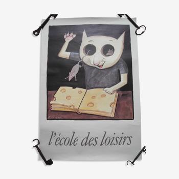 Affiche poster pub éditeur ecole des loisirs ungerer french advertising poster