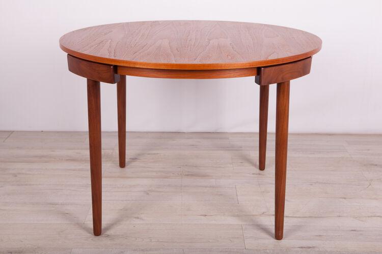 Table & 4 chaises par Hans Olsen pour Frem Røjle, années 1950