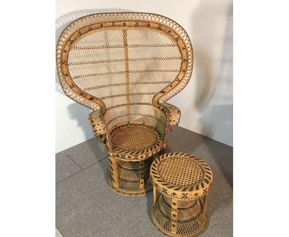 Ensemble de fauteuils et tabouret