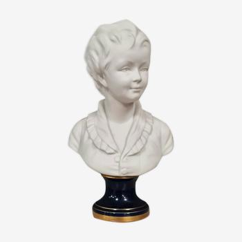 Sèvres Grand biscuit époque Art Nouveau figurant une jeune fille Signé Houdon.