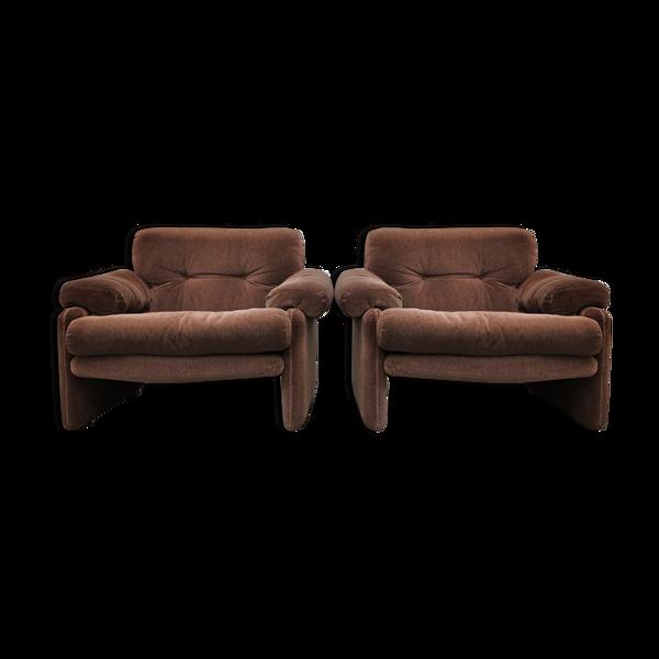 Paire de fauteuils Coronado par Tobia Scarpa pour C&B Italia