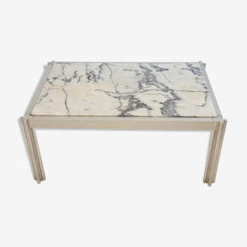 Table basse en marbre George Ciancimino édition Mobilier International 1970