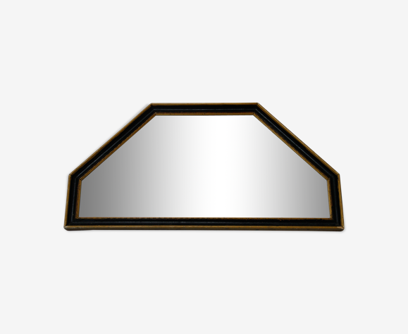 Miroir hexagone Napoléon III 40x22cm