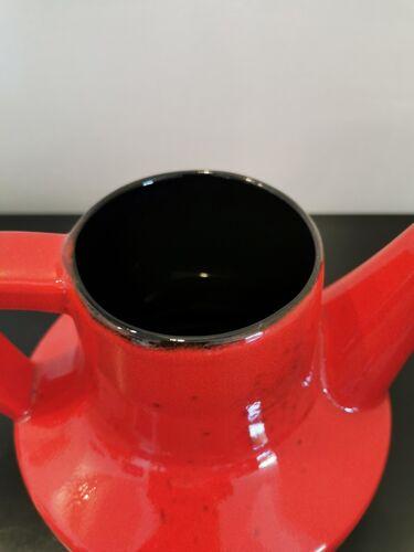 Théière céramique rouge