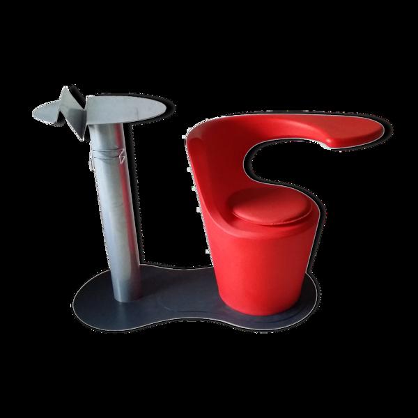 Selency Assise avec table design années 80