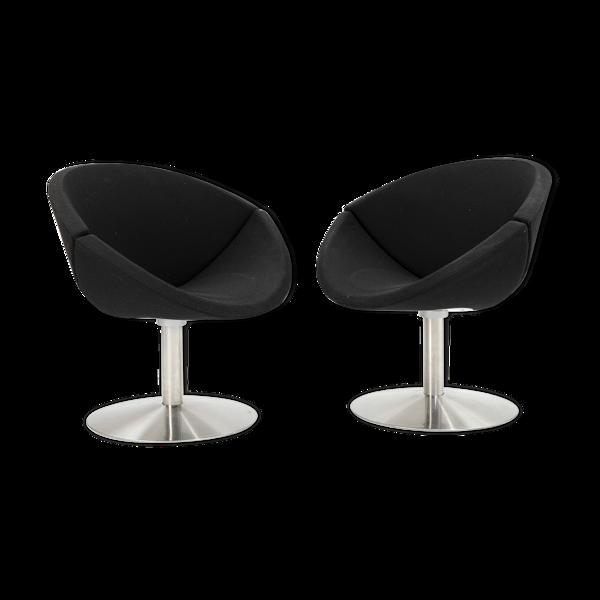 "Selency Paire de fauteuils Johannes Foersom, Peter Hiort-Lorenzen: ""Apollo"""