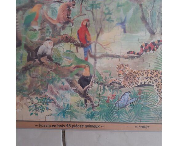 Puzzle en bois. Comet. Motif  animaux jungle.