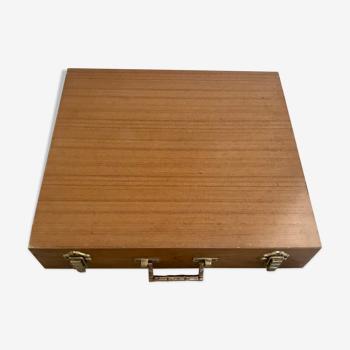Valise en bois vintage 48X44
