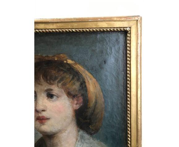 Portrait de jeune fille début 19 eme