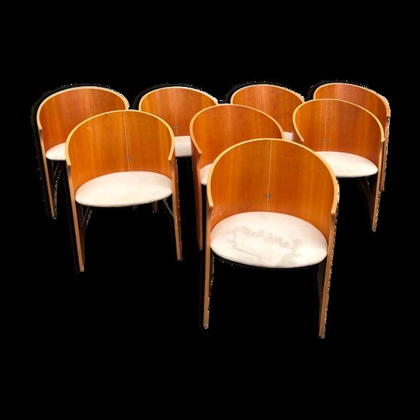 Lot de 8 chaises design italien des années 80/90