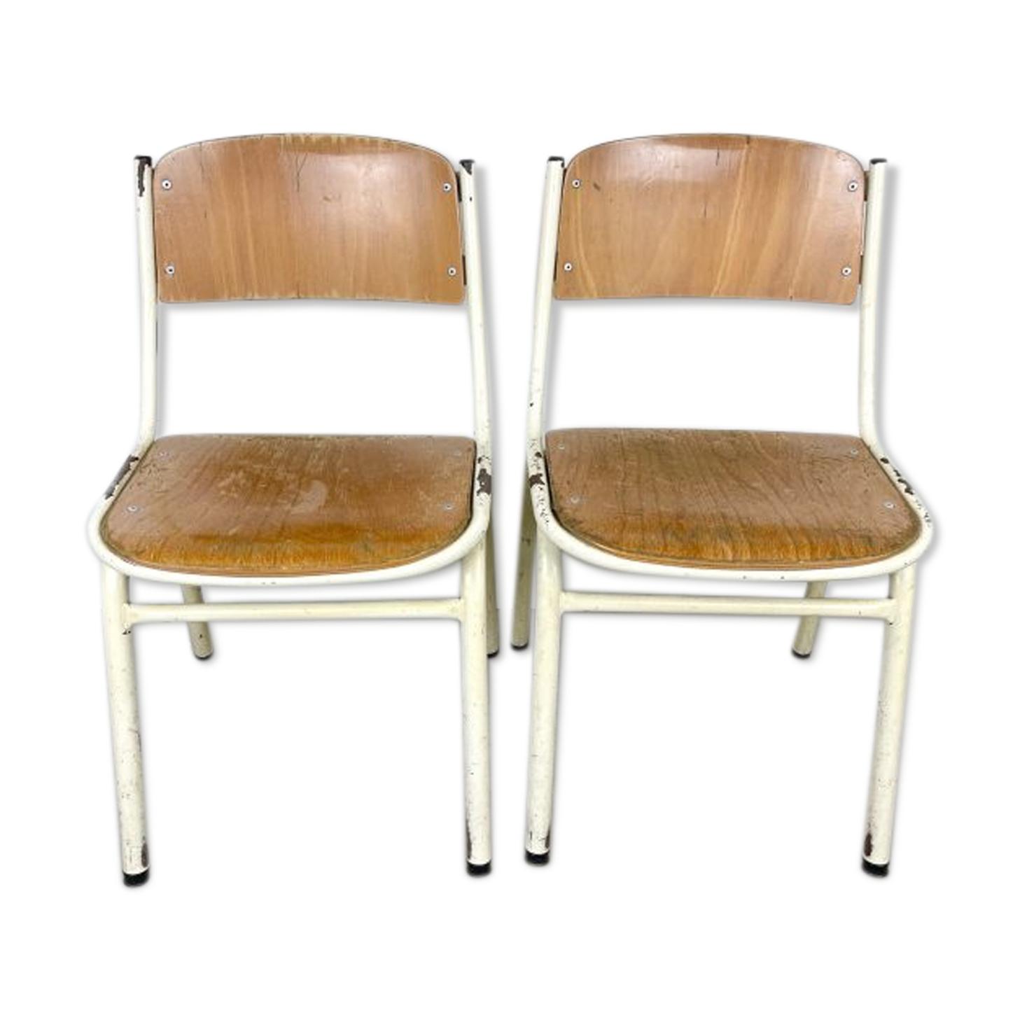 Ensemble de 2 chaises industrielles pour enfants