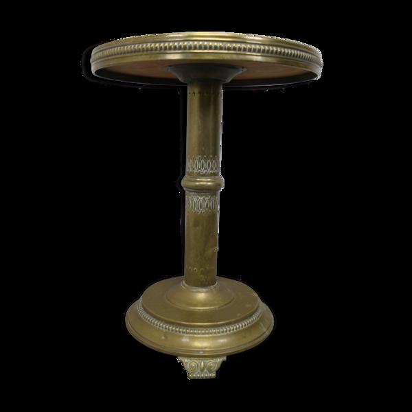Table ronde en cuivre 1950