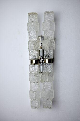 Applique Murano, glaçons givrés, Italie, 1970