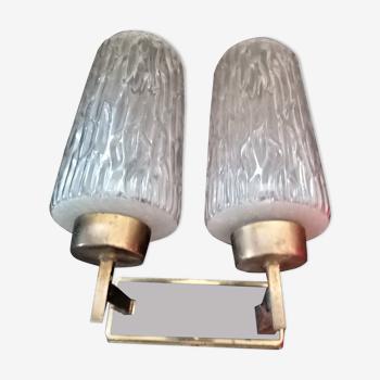 Double applique torchère design scandinave vintage