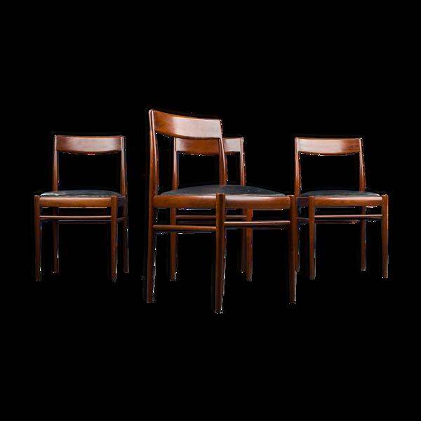 Chaises à manger du milieu du siècle de Benze Seating Furniture, années 1960, Ensemble de 4
