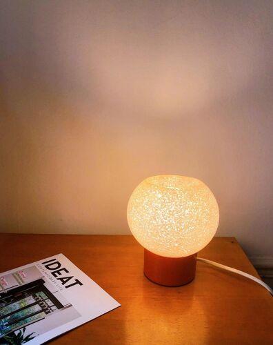 Orange 1950s lamp