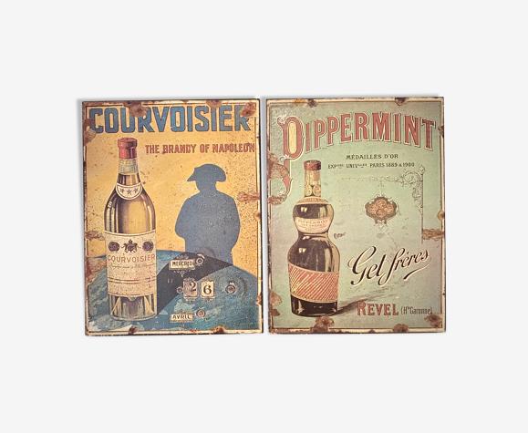 Plaques en tôle Courvoisier Get Pippermint