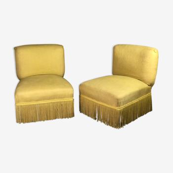 Chauffeuses en tissu jaune 1960'S